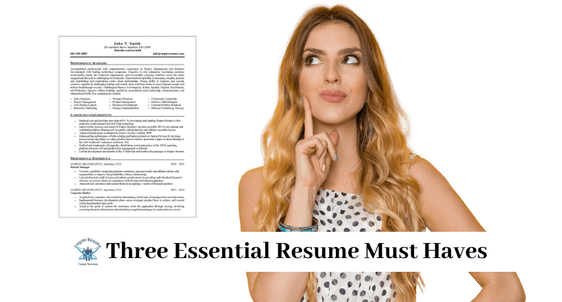 Resume Must Haves