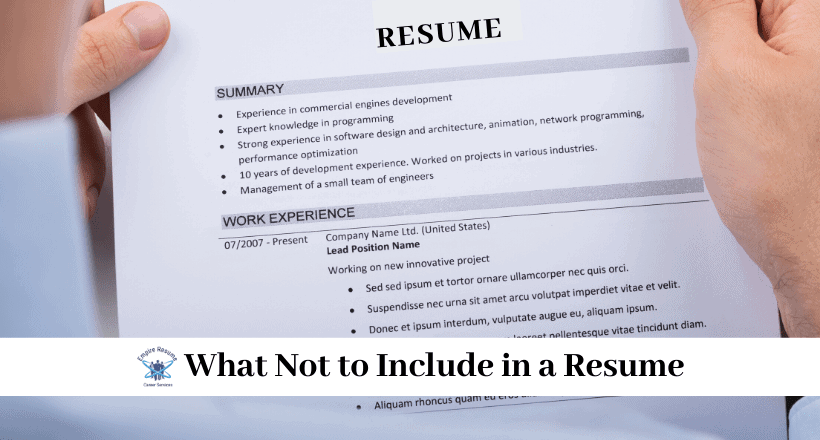 What Not To Put On A Resume