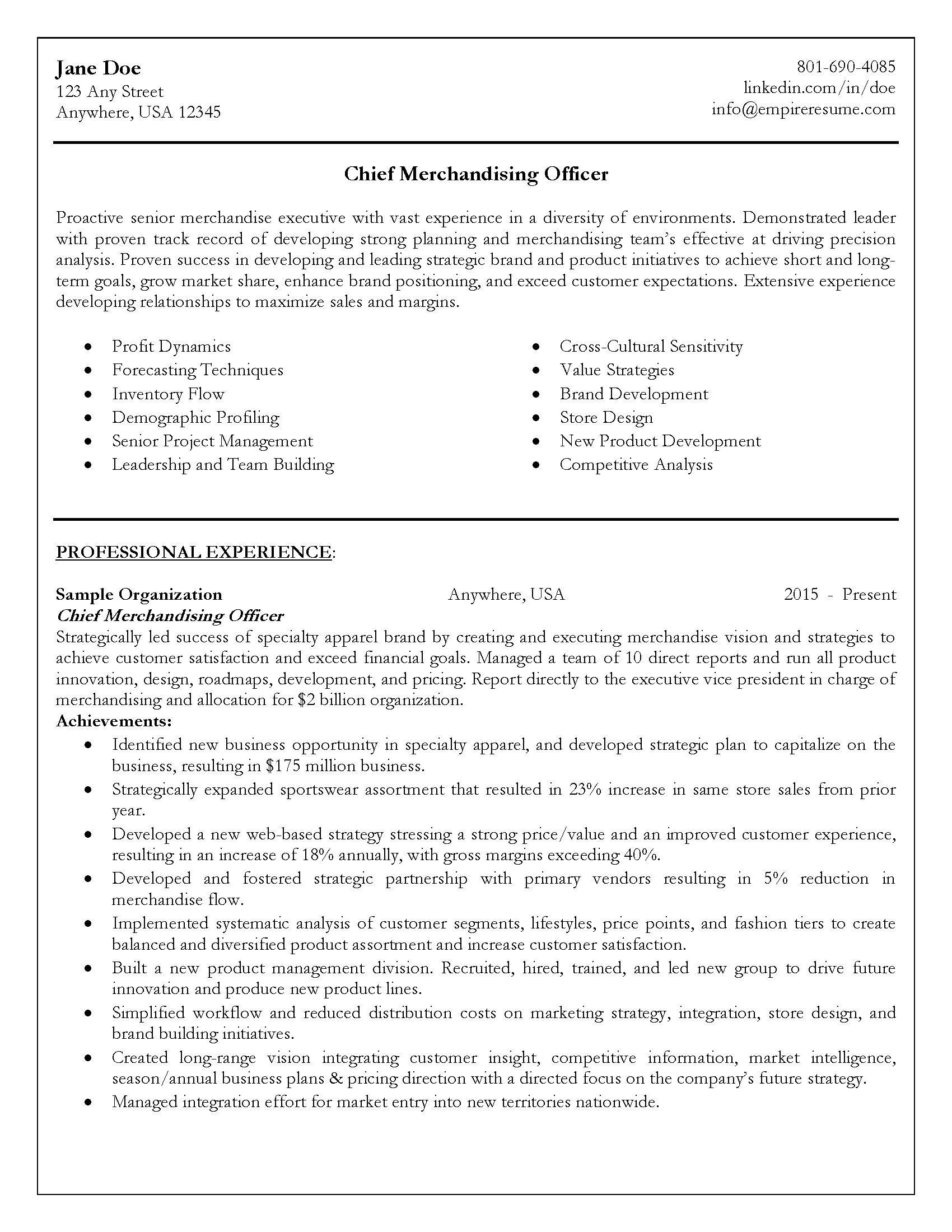 Professional Resume Examples Salt Lake City