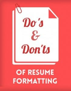 Elements of a Great Resume