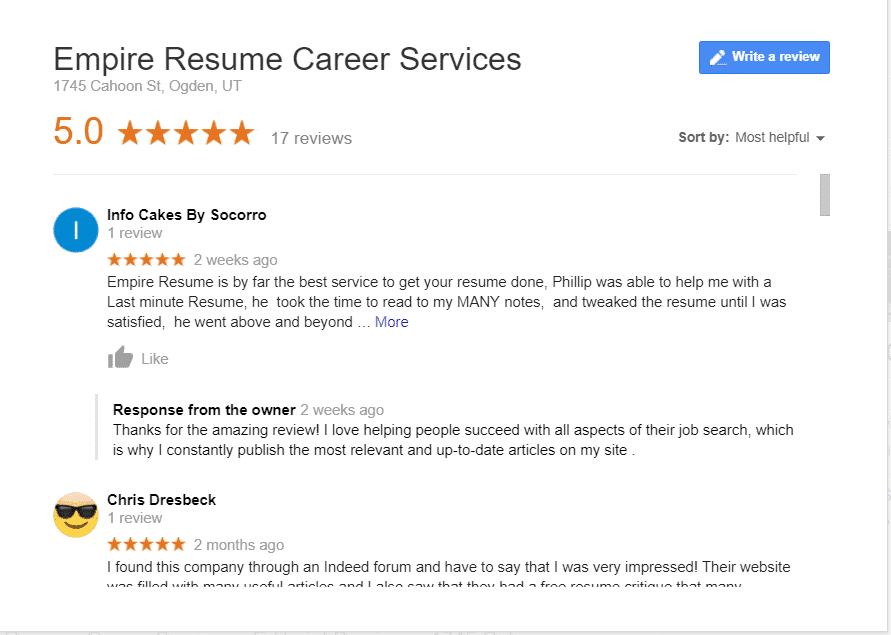 Testimonials Empire Resume Career Services