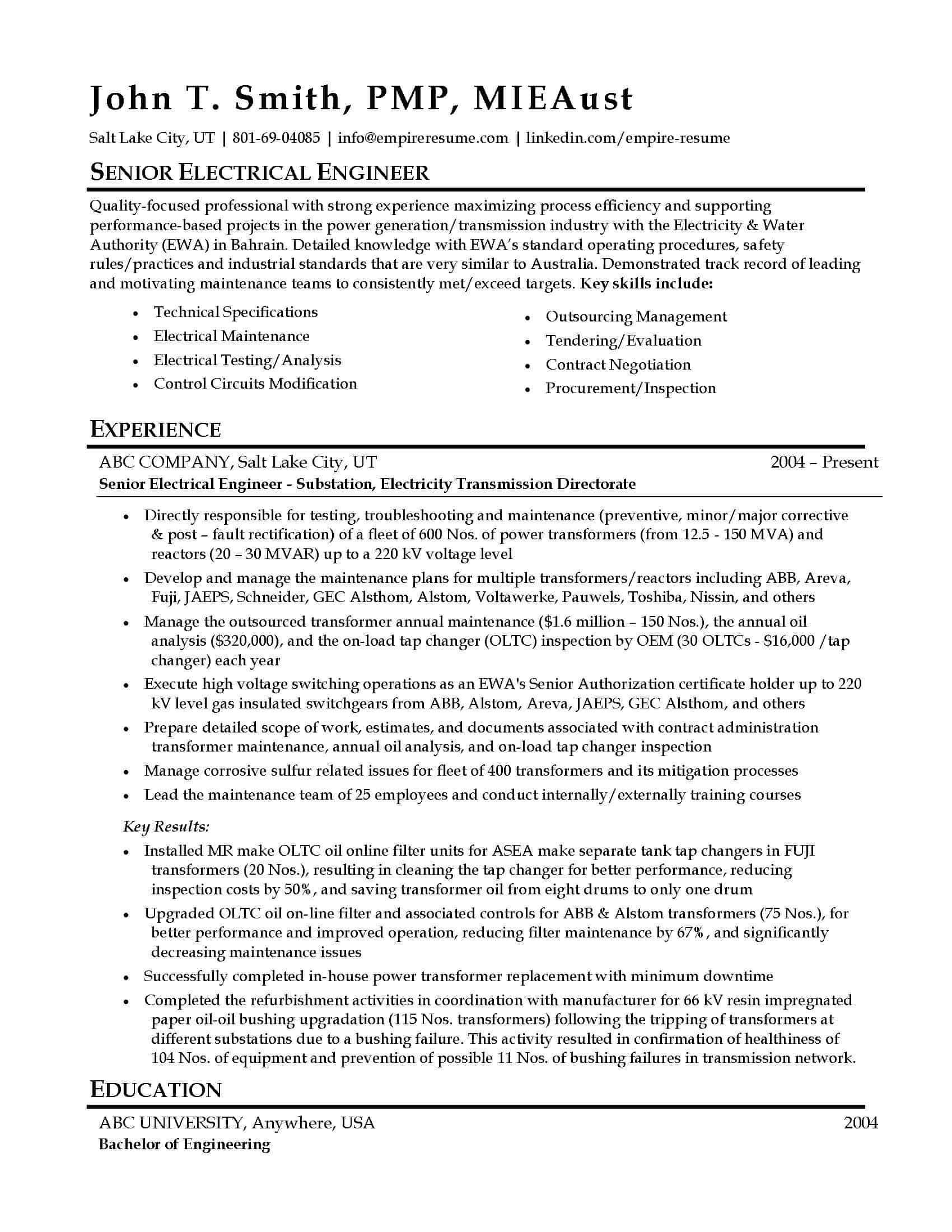 Professional Resume Examples Salt Lake City Empire Resume
