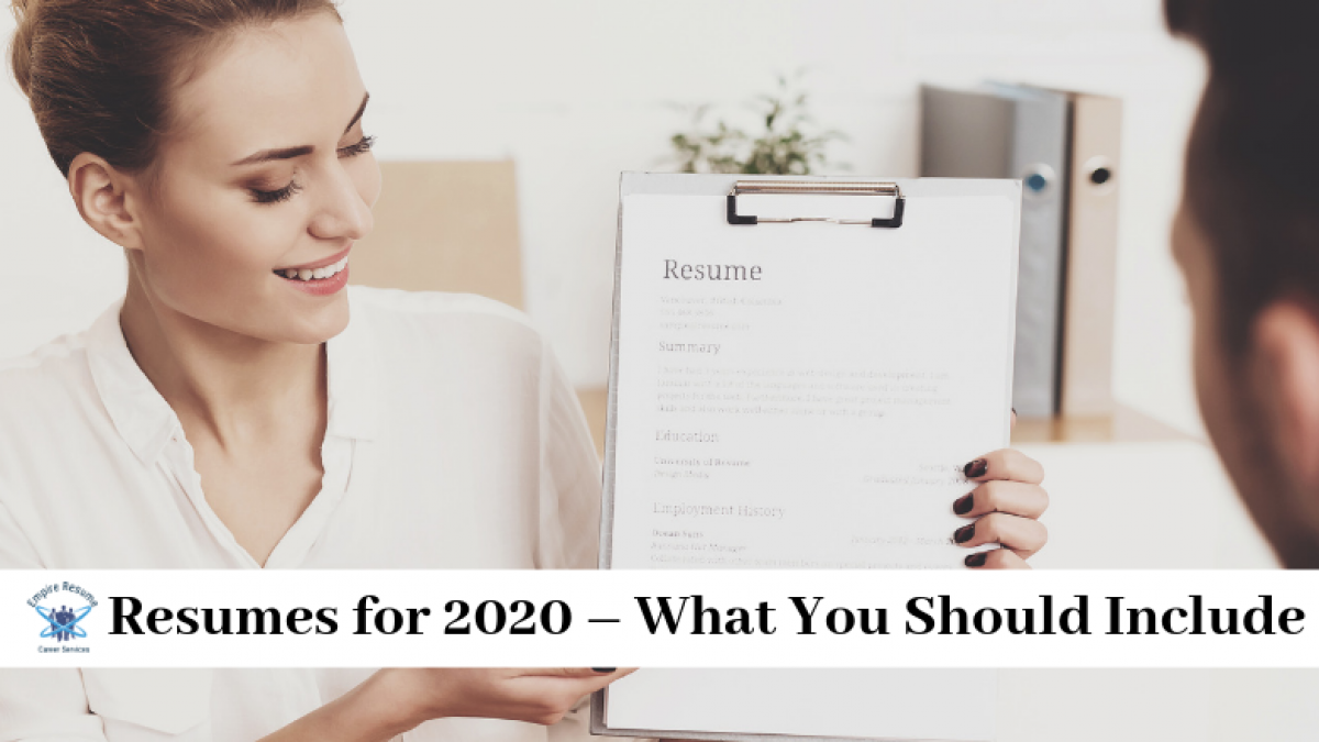 Resumes For 2020 Empire Resume