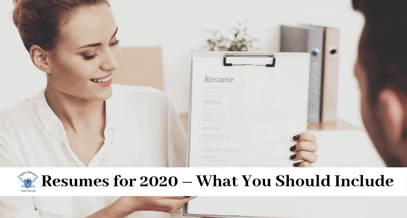 How to Write a Resume for 2020