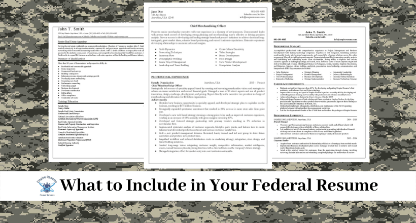 Writing A Federal Resume