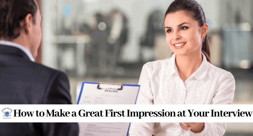 How to Make a Good First Impression at an Interview