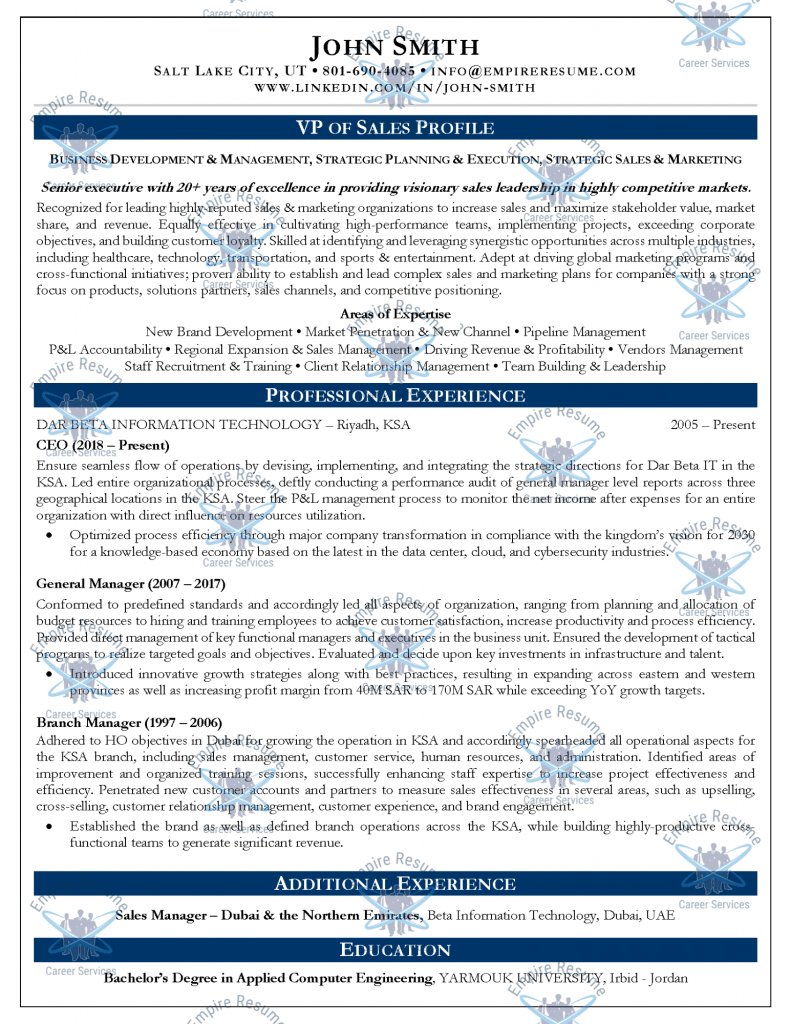 LinkedIn Resume Writing
