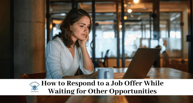 How to Stall a Job Offer