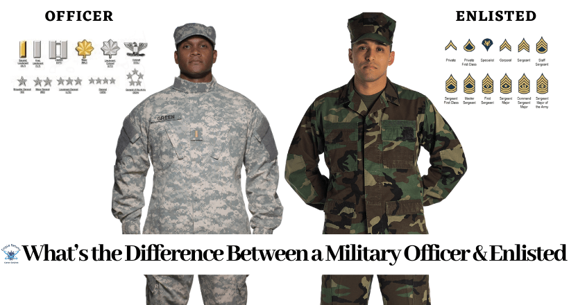 Difference Between a Military Officer and Enlisted